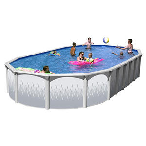 Slim Style Oval Revel Complete Above Ground Pool Package in Multiple Sizes