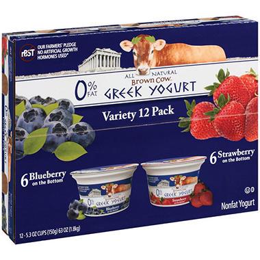 Brown Cow Greek Yogurt Variety Pack - 5.3 oz. - 12 ct.