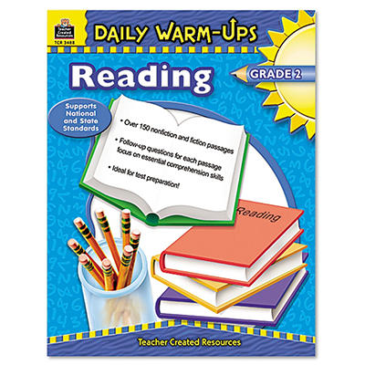Teacher Created Resources - Daily Warm-Ups: Reading, Grade 2, Paperback -  176 Pages