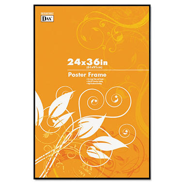 DAX - Coloredge Poster Frame with Clear Plastic Window, 24 x 36 - Clear Face/Black Border