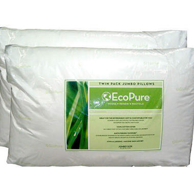 EcoPure Twin Pack Jumbo Pillows