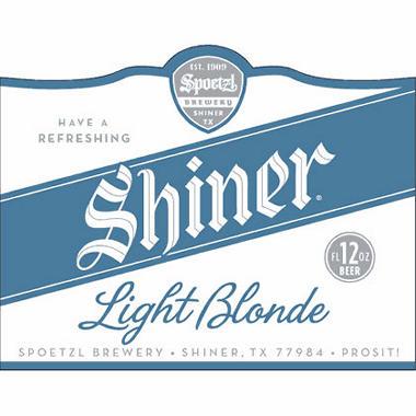 SHINER LIGHT BLONDE 12 / 12 OZ BOTTLES