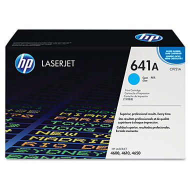 HP C9721A LaserJet Smart Print Cartridge- Cyan