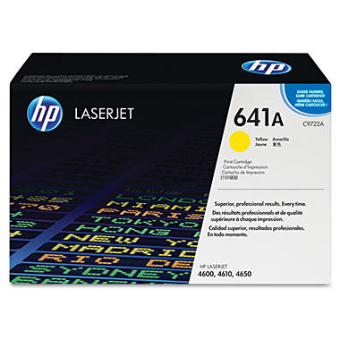 HP C9722A LaserJet Smart Print Cartridge- Yellow