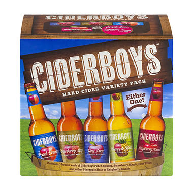 CIDERBOYS VARIETY 12 / 12 OZ BOTTLES