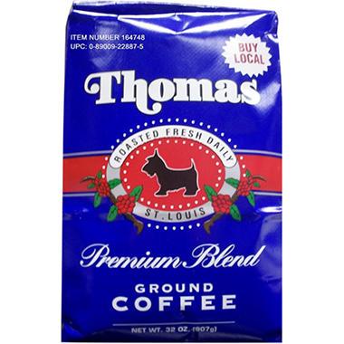 Thomas Premium Blend Ground Coffee, (32 oz.)