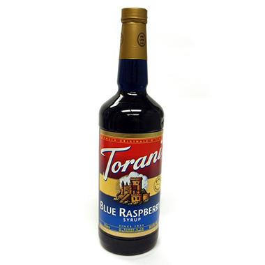 Torani Blue Raspberry Syrup - 3 pk. - 1 L