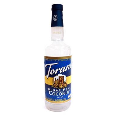 Torani Sugar Free Coconut Syrup - 1 Liter