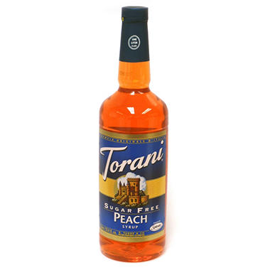 Torani Sugar Free Peach Syrup - 3 pk. - 1 L