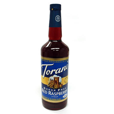 Torani Sugar Free Red Raspberry Syrup - 3 pk. - 1 L