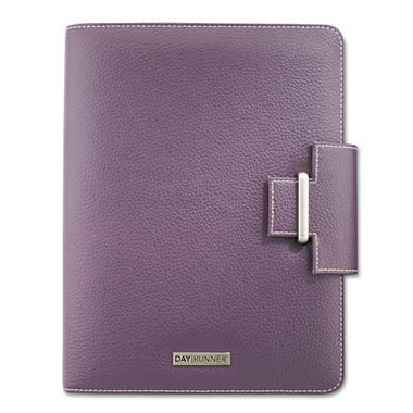 Day Runner - Terramo Refillable Planner - 5-1/2 x 8-1/2 - Eggplant