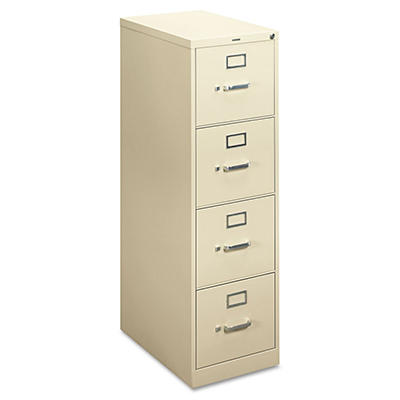 "basyx by HON - H410 Series Vertical File Cabinet, 4-Drawer, Locking, Letter, 22"" Depth - Putty"