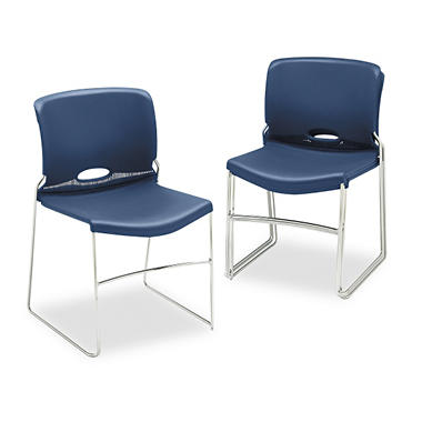 HON Olson Stacker Chair, Navy - 4 pk.