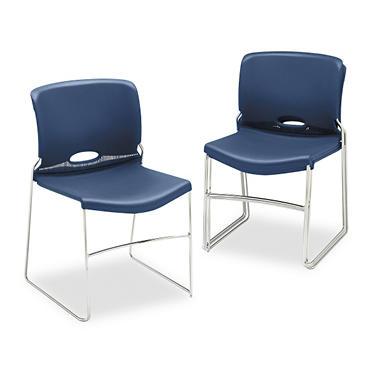 HON - Olson Stacker Chair - Navy - 4 pk.