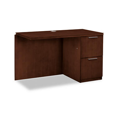 HON - Arrive Right Return For Left Pedestal Desk - Shaker Cherry