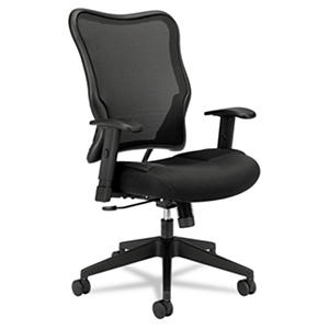 basyx by HON - VL702 High- Back Swivel/Tilt Work Chair - Black Mesh