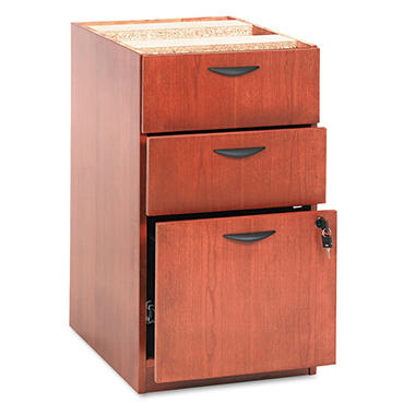 "basyx by HON - BW Veneer Box/Box/File Pedestal File, Letter/Legal, 22"" - Bourbon Cherry"