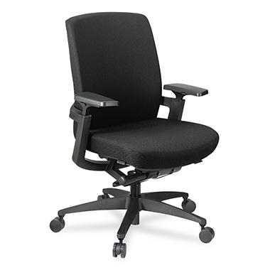 Hon F3 Series Synchro-Tilt Work Chair - Black Upholstery