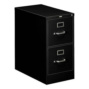 HON - 310 Series Vertical File Cabinet, 2-Drawer, Full-Suspension, Letter, 26-1/2
