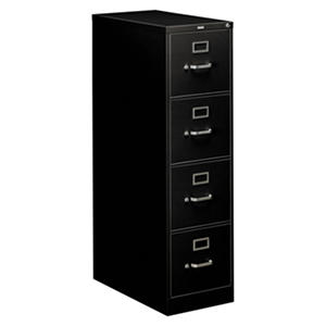 "HON 310 Series  26-1/2""D Four-Drawer Vertical Letter File Cabinet, Select Color"