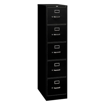 "HON - 310 Series Five-Drawer, Full-Suspension Vertical File, 26-1/2""D - Various Colors and Sizes"