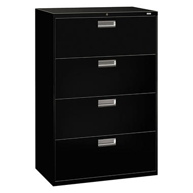 "HON - 600 Series Lateral File Cabinet, 4-Drawer, Letter/Legal, 36"" Width - Various Colors"