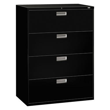 "HON - 600 Series Lateral File Cabinet, 4-Drawer, Letter/Legal, 42"" Width - Various Colors"