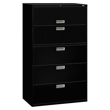 "HON - 600 Series Lateral File, 5-Drawer, 42"" Width - Various Colors"
