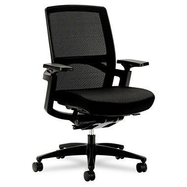 HON - F3 Series Ilira Stretch-Back Work Chair - Black - Black Upholstery