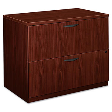 "basyx by HON - BL Laminate Lateral File Cabinet, 2-Drawer, 35¾"" Width - Mahogany"