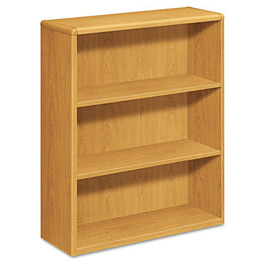 HON - 10700 Series Bookcase - 3 Shelves - Harvest