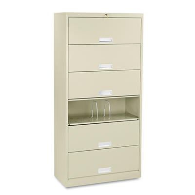 "HON - 600 Series Steel Receding Door File, 6-Shelf, Legal, 36""W x 16-3/4""D - Various Colors"