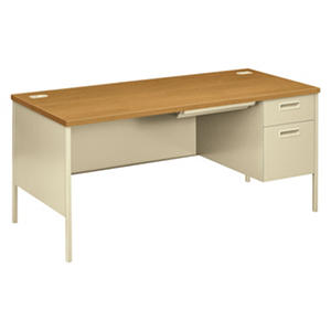 HON - Metro Classic Right Pedestal Desk - Harvest/Putty