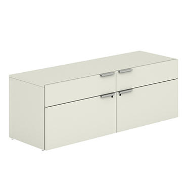 "HON - Voi Low Credenza, 2 Box/2 File Drawers, 60""W x 20""D x 21-1/2""H - Silver Mesh"