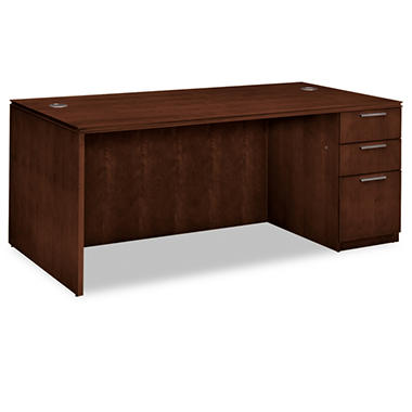 HON - Arrive Wood Veneer Series Single Pedestal Desk