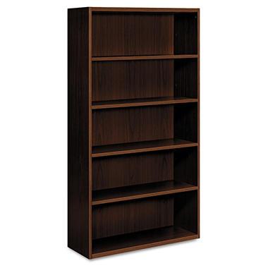 HON - Arrive™ Wood Veneer Series Five-Shelf Bookcase