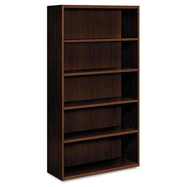 HON - Arrive? Wood Veneer Series Five-Shelf Bookcase