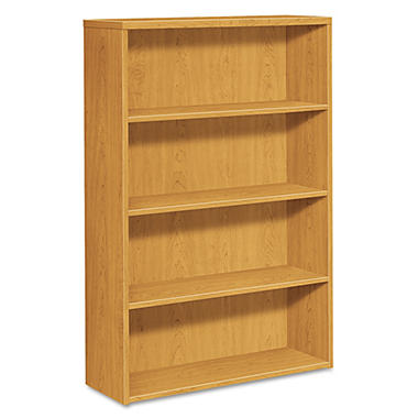HON - 10500 Series Bookcase - 4 Shelves - Harvest