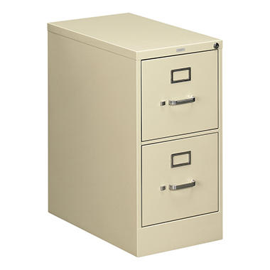 "HON - 510 Series Vertical File Cabinet, 2-Drawer, Full-Suspension, Letter, 25"" Depth - Putty"