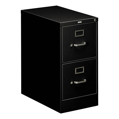 "HON - 510 Series Vertical File Cabinet, 2-Drawer Full-Suspension, Letter, 25"" Depth - Black"