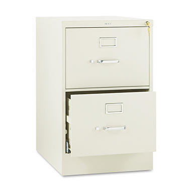 "HON - 510 Series Vertical File Cabinet, 2-Drawer, Full-Suspension, Legal, 25"" Depth - Putty"