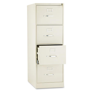 "HON - 510 Series Vertical File Cabinet, 4-Drawer, Full-Suspension, Legal, 25""Depth - Putty"
