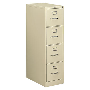 "HON - 510 Series Vertical File Cabinet, 4-Drawer, Full-Suspension, Letter, 25"" Depth - Putty"