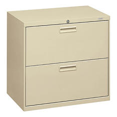 "HON - 500 Series Lateral File Cabinet, 2-Drawer, Letter/Legal, 30"" Width - Putty"