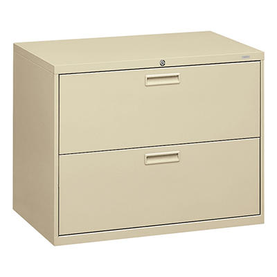 "HON - 500 Series Lateral File Cabinet, 2-Drawer, Letter/Legal, 36"" Width - Putty"