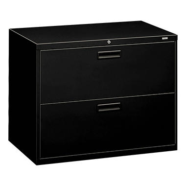 "HON - 500 Series Lateral File Cabinet, 2-Drawer, Letter/Legal, 36"" Width - Black"