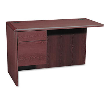HON - 3/4 Pedestal Left Return, Mahogany.