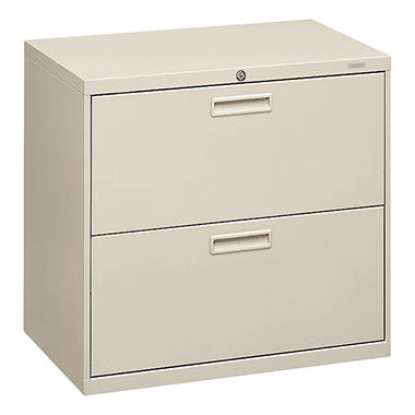 "HON - 500 Series Lateral File Cabinet, 2-Drawer, Letter/Legal, 30"" Width - Light Gray"