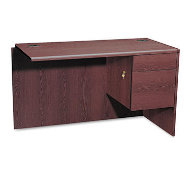 HON - 3/4 Pedestal Right Return, Mahogany