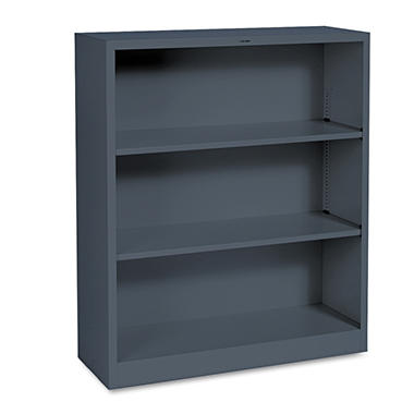 "HON 34 ½"" Wide 3-Shelf Steel Bookcase, Select Color"